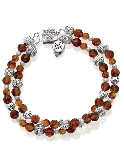 Amber & Silver Bracelet