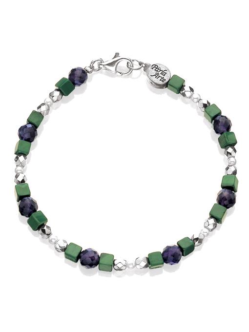 Amethyst & Malachite Bracelet