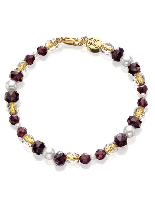 Garnet & Crystal Bracelet
