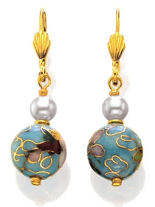 Cloisonnè Earrings