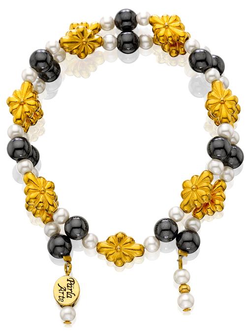 Gold Fleurons Magnetic Bracelet