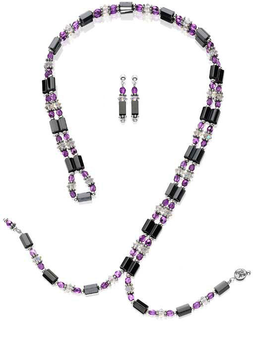 Pink & Crystal Magnetic Set