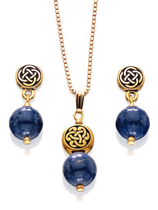 Lapis & Celtic Knot Set