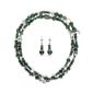 Malachite & Silver Set
