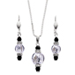 Silver Murano Glass Set